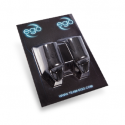 Pack of 2 Silicone EGO Biogrips (Straight) in Black - Up to 19MM Tubes