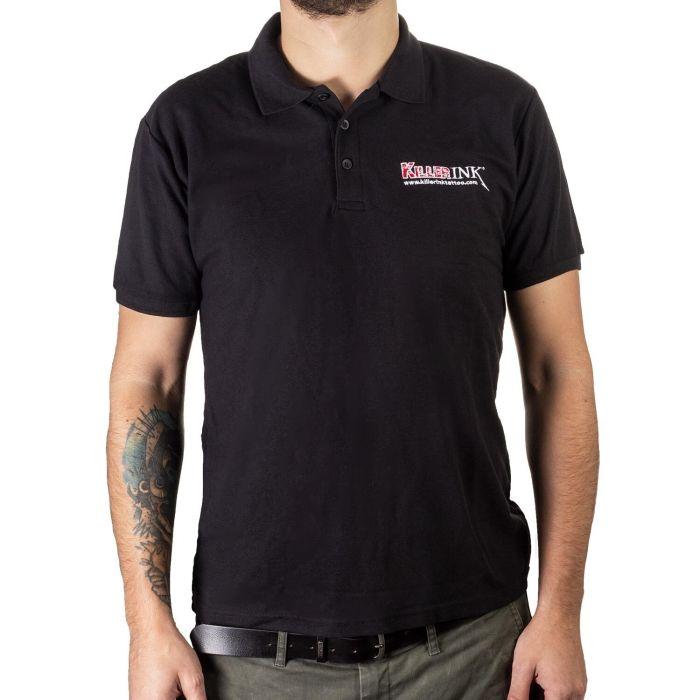 Killer Ink Polo Shirt in Black