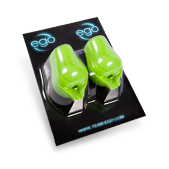 Pack of 2 Silicone EGO Biogrips (No Back Lip) in Green - Up to 19MM Tubes