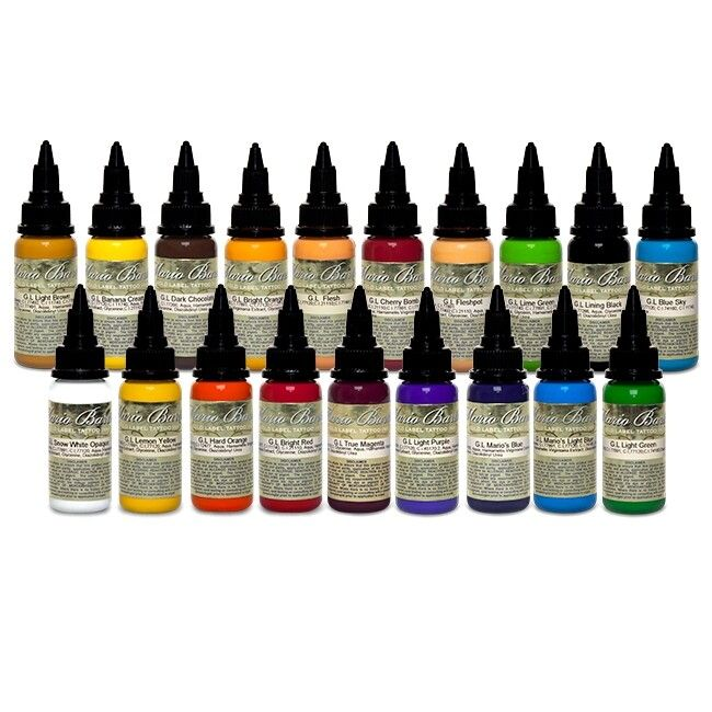 Complete Set of 19 Intenze Ink Mario Barth Gold Label 30ml (1oz)