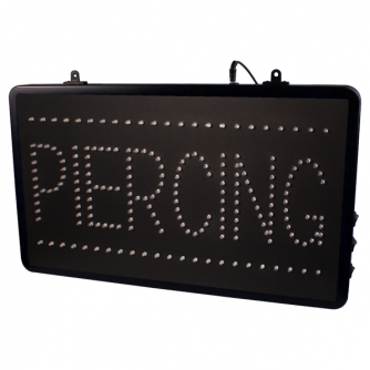 Chain Hangable Tattoo Parlour Piercing LED Studio Sign