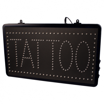 Chain Hangable Tattoo Parlour LED Studio Sign
