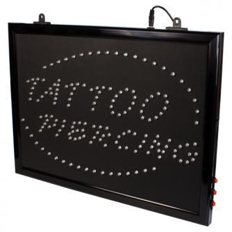 Chain Hangable Tattoo Parlour Tattoo + Piercing LED Studio Sign